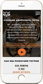 Промо-страница центра «Амурский Тигр»
