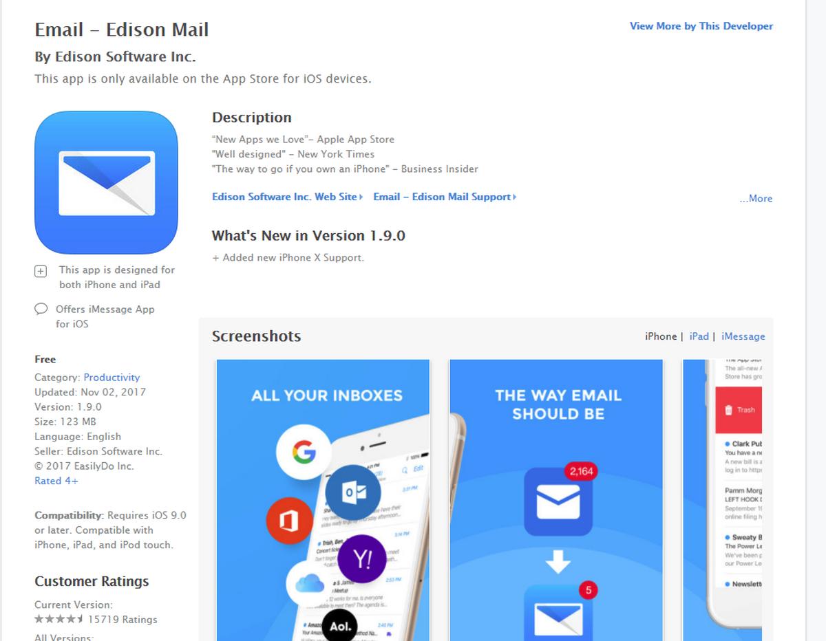разработка мобильных приложений под ios для почты